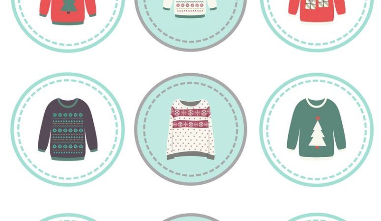 ugly sweater cupcake toppers 1 1