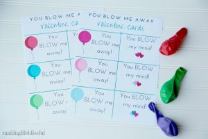 You BLOW My Mind Printable Cards