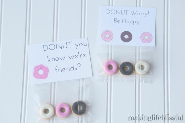 Free Donut Valentine Printables