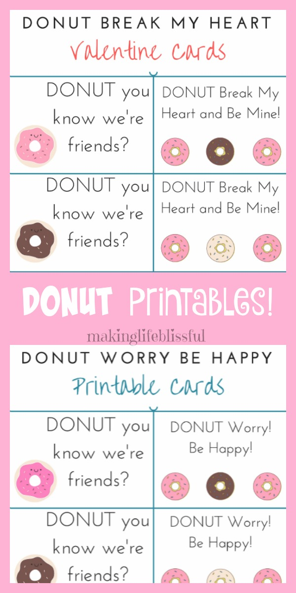 picture relating to Donut Printable known as Cost-free Donut Bash Printables and Valentine Present Tags Manufacturing