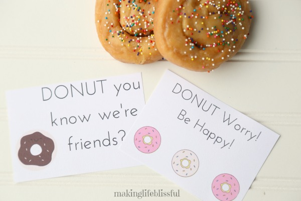 Donut Gift Tag Printables