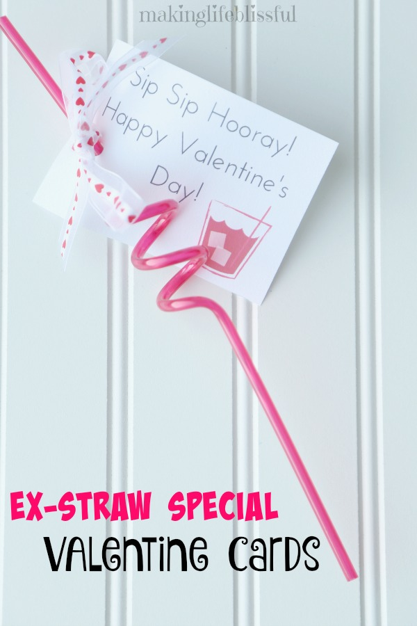 picture regarding Sip Sip Hooray Printable named Foolish Straw Valentines and Occasion Choose Printables Creating