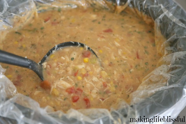 Slow Cooker White Bean Chicken Chili using food storage