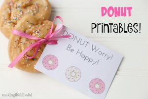 Printable Donut Gift Tag Cards