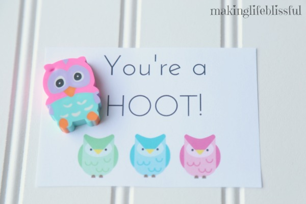 You're A Hoot printable owl cards!
