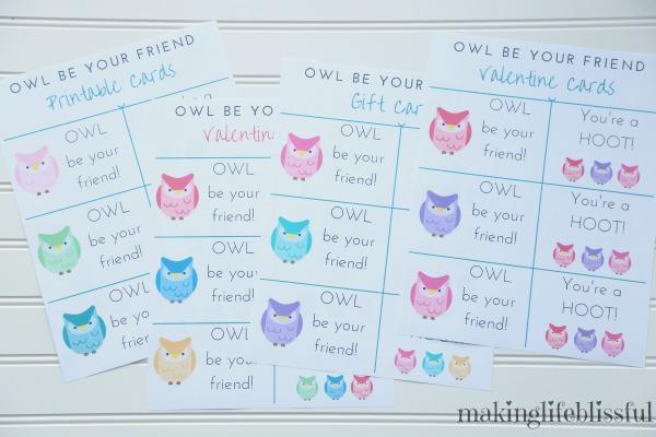 Owl be your friend printable bundle