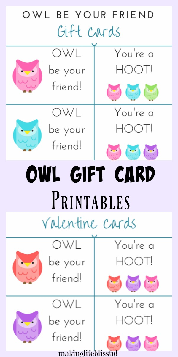 You're a Hoot Owl Printable Valentines