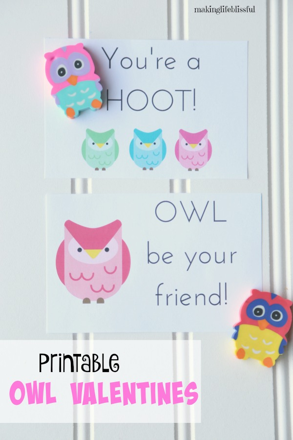 OWL Be Your Friend Printable Cards