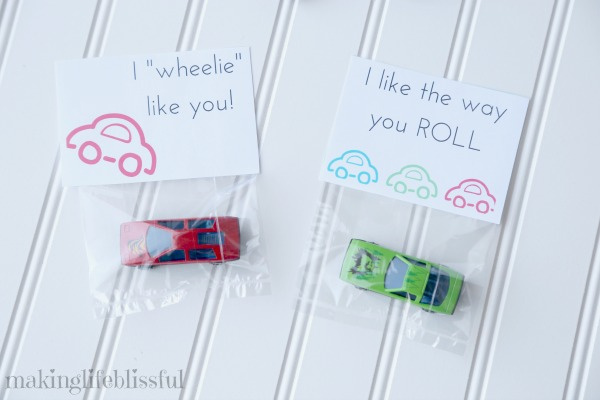Car Valentine Printables