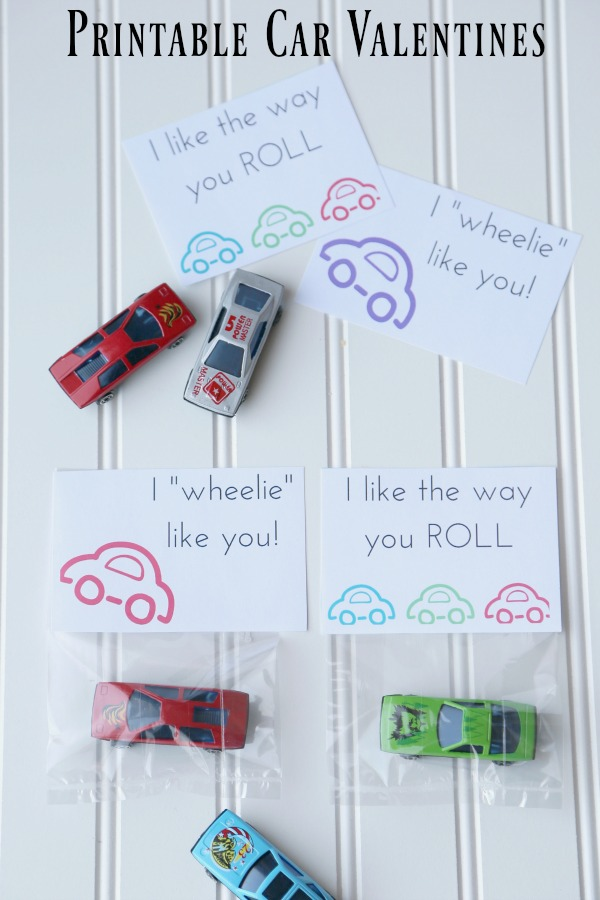 CARS Party Favor Printables for Valentines Too