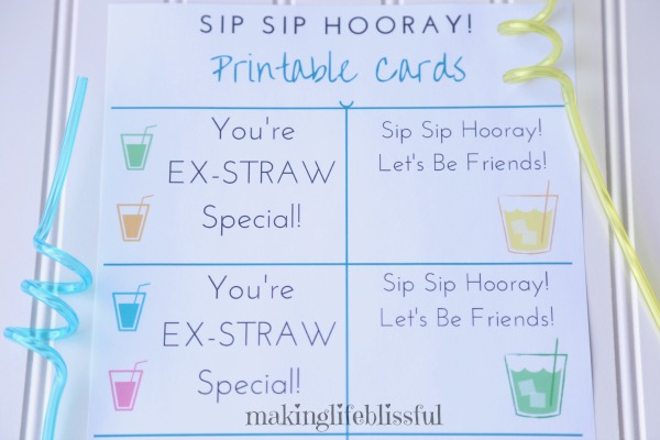 Drink Printables and Party Favors