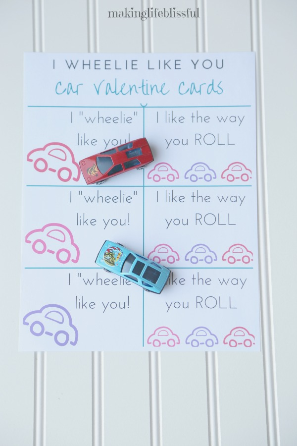 I like the way you ROLL Valentine Printables