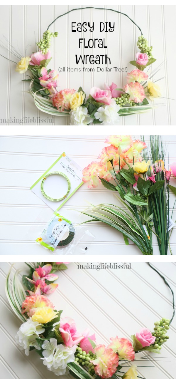Beautiful Dollar Tree Wreath Tutorial!