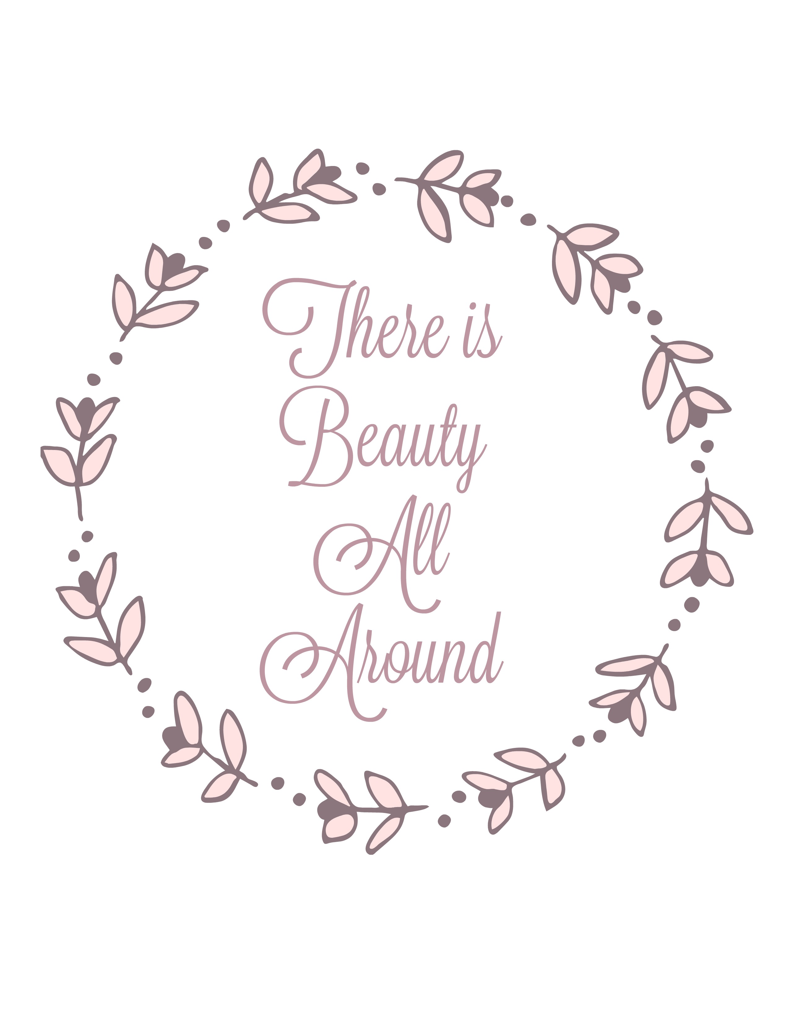 beauty all around printable 4