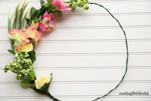 Dollar Store Spring Wreath tutorial