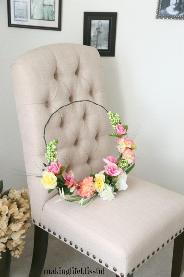 Easy Dollar Store Floral Wreath
