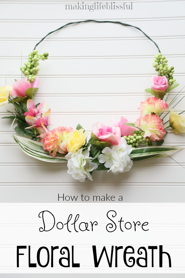 How to make a dollar store wreath look beautiful!