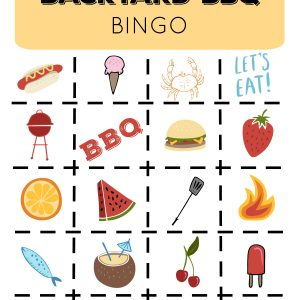 BBQ Bingo and Game Printables