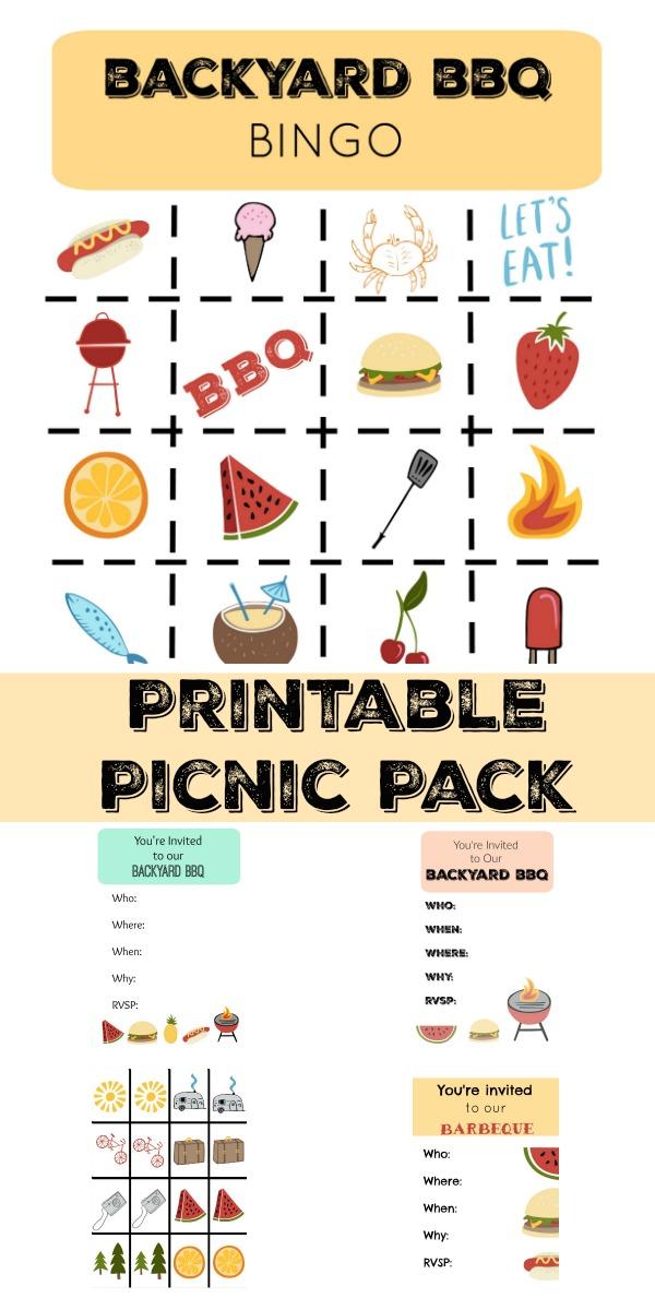 bbq bingo printable game pack 1