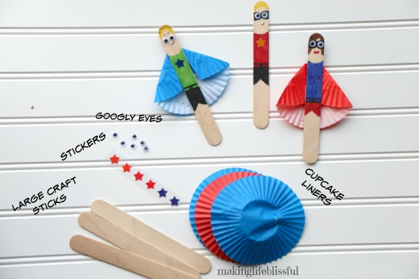 How to make popsicle stick superhero craft