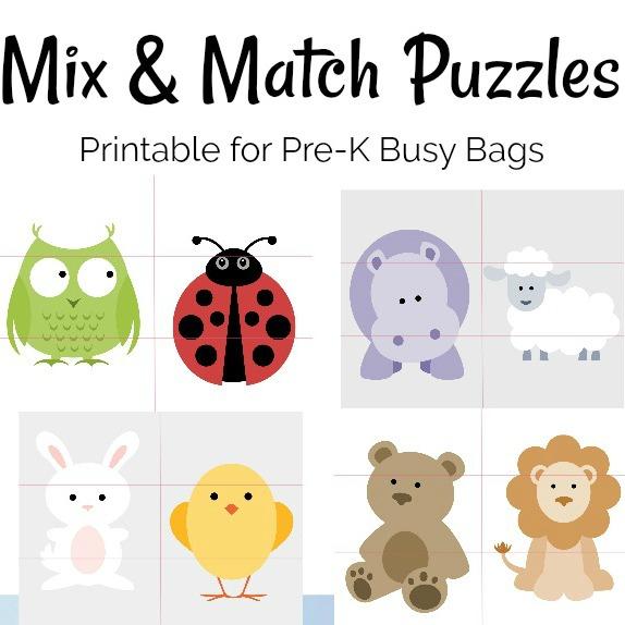 Printable Preschool Puzzles