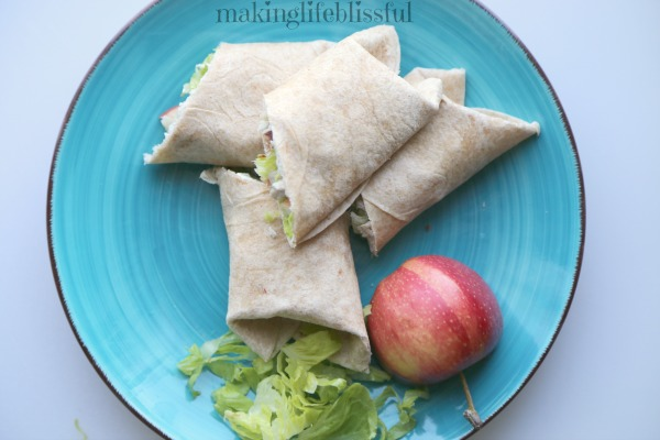 Easy Leftover Turkey Lunch wrap
