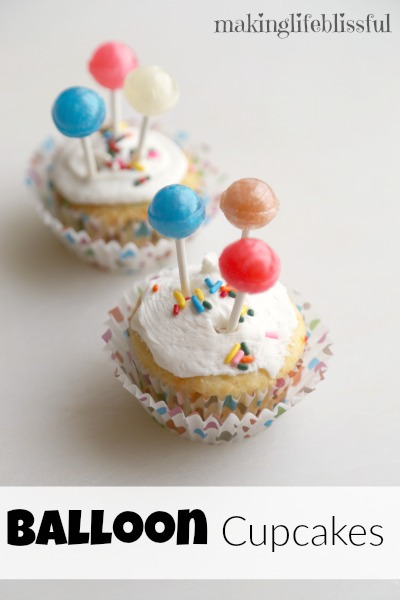 Balloon Cupcakes for UP theme party