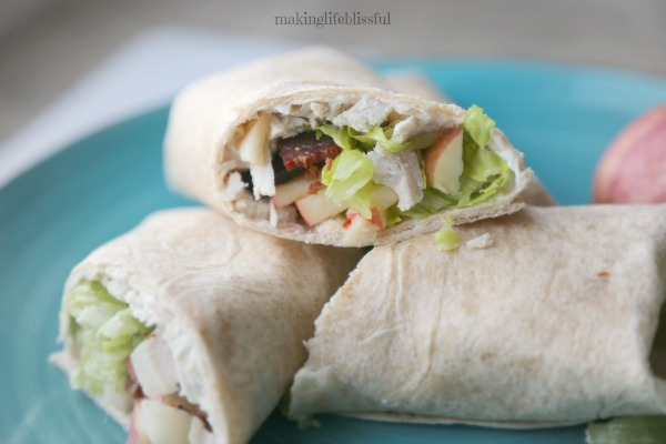 Leftover Turkey Lunch Wrap