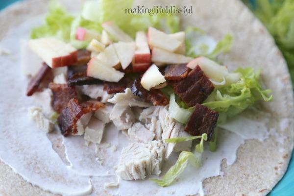 Turkey Apple Bacon Lunch Wraps