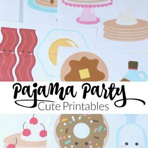 Cute Pancakes and Pajamas Printables!