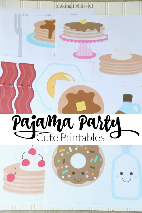 Cute Pancakes and Pajamas Printables!