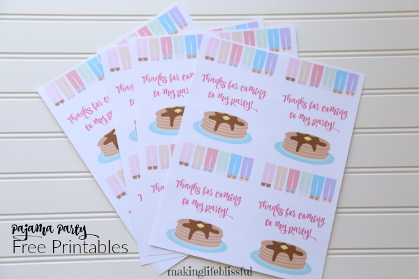 Pajama Party Printables