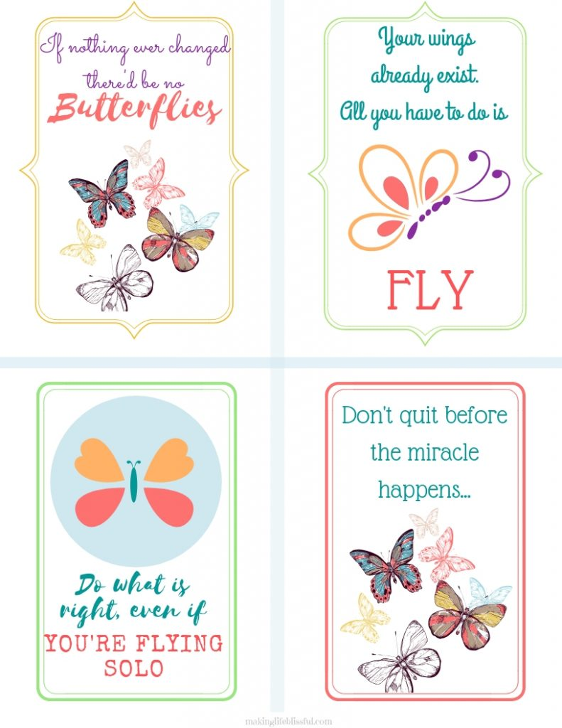 Free Printable Butterfly Note Cards