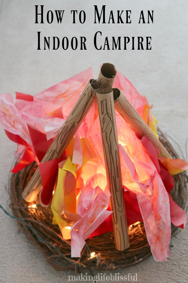 How to make an indoor campfire