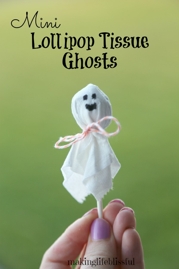 Mini Halloween Tissue Paper Ghosts