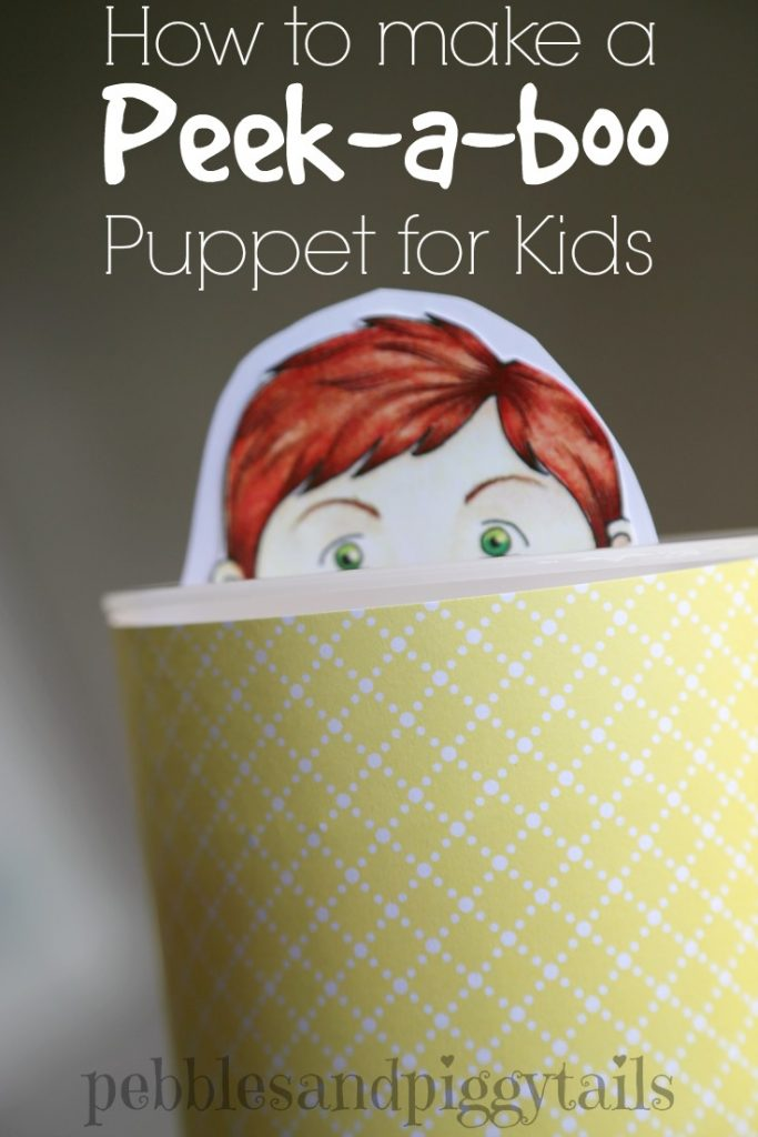 Peek a boo Puppet for teaching kids