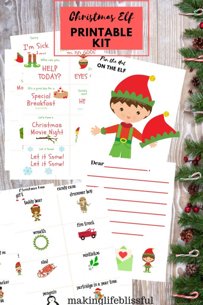 Christmas Elf Printables to make that elf so much easier!