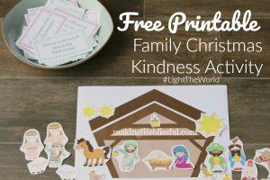 Free Printable Family Christmas Kindness Activity and Nativity