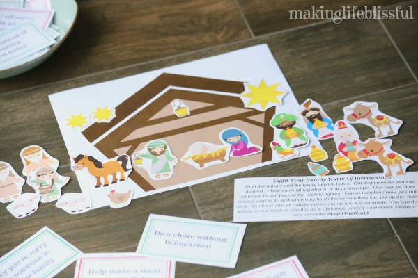 Free Printable Christmas Nativity and Kindness Cards