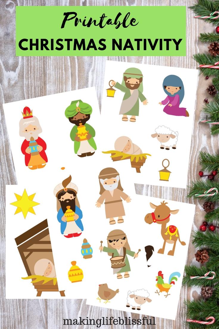 printable christmas nativity