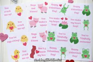 Printable Animal Valentines! So cute!