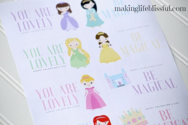 Free Printable Princess Valentines