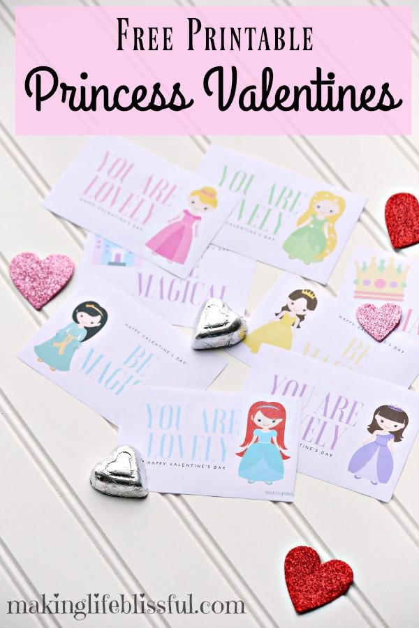 FREE Printable Princess Valentines!