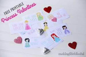 FREE PRINTABLE PRINCESS VALENTINES!