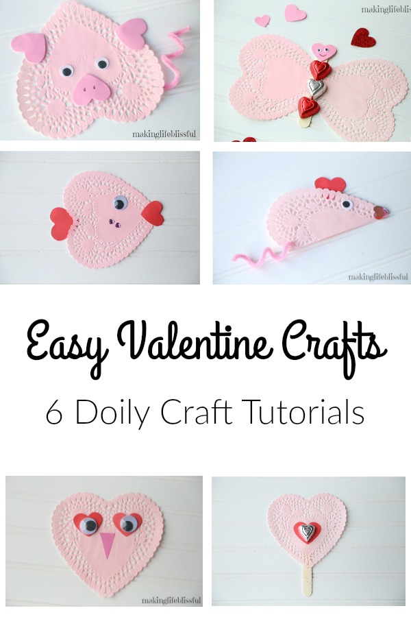 Valentine Heart Doily Crafts for Kids
