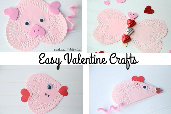 Easy Doily Valentine Crafts for Kids