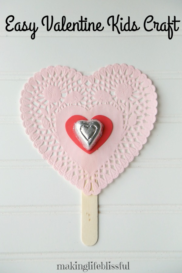 Heart Doily Valentine Crafts for kids
