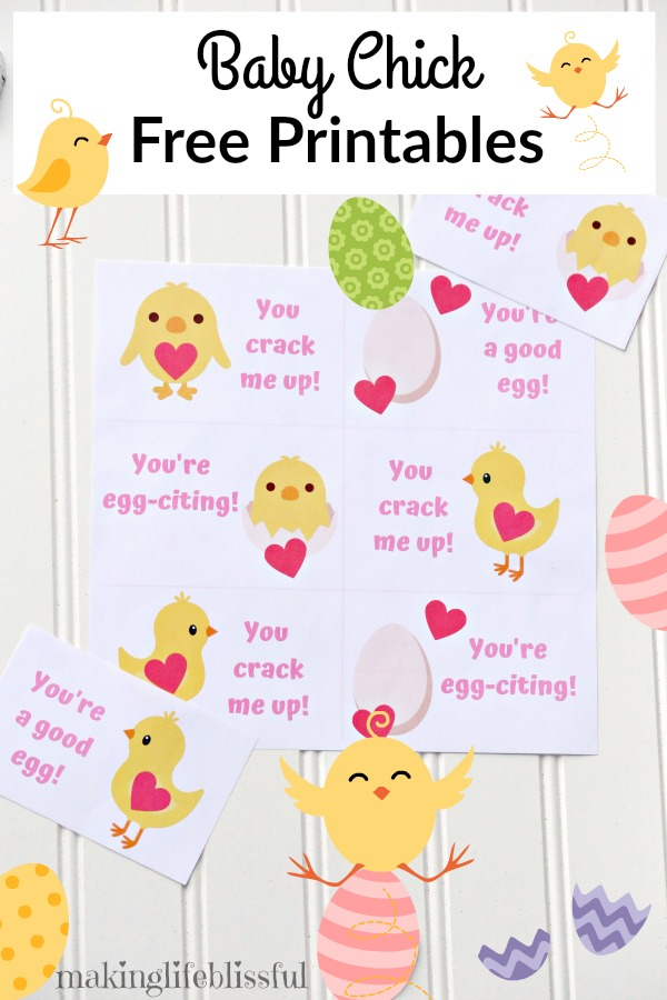 Free Easter Printable Baby Chicks