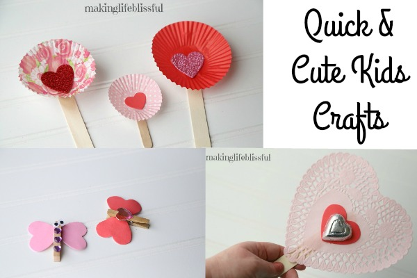 Quick Valentine Crafts for Kids
