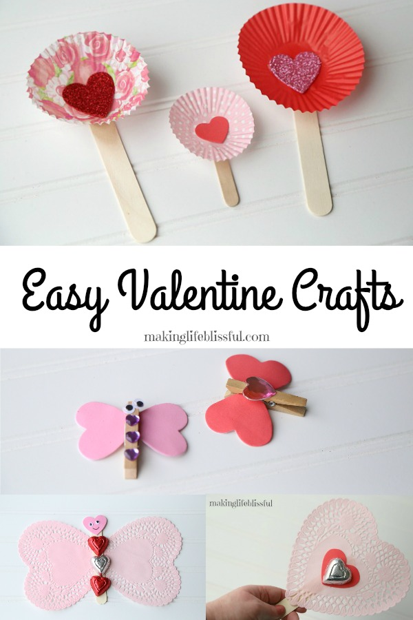 Quick Valentine Crafts for Kids to Make!
